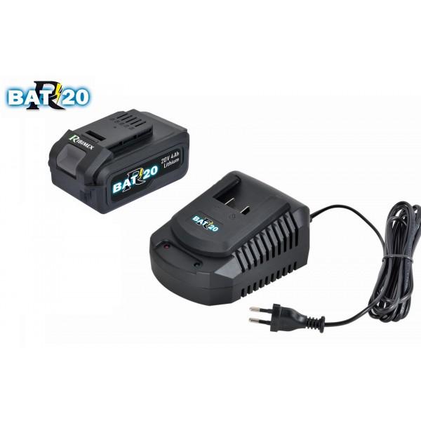 """_Kit chargeur rapide """"R-BAT20"""" + batterie 4Ah"""